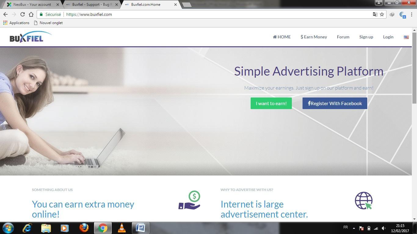 Buxfiel موقع جديد اطلقه اليوم