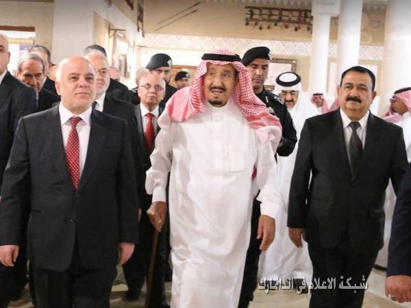 الدكتور حيدر العبادي يلتقي ملك المملكة العربية السعودية الملك سلمان بن عبد العزيز