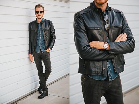 نصائح لتنسيق جاكيت الجلد الأسود مع الملابس لاطلالة شتوية جذابة 2018 906804999.jpg