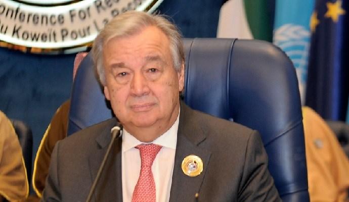 أنطونيو غوتيريس: الأمم المتحدة تريد ابعاد العراق عن اية حروب