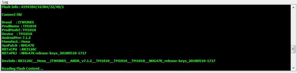 ممكن فلاشة لهذه التابلات i.t works TM 1010